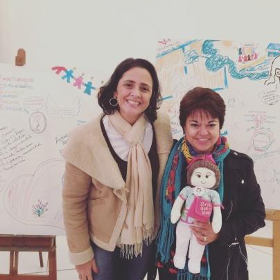 Profa. Dra. Juliana Homem da Luz e Profa. Dra Lucila Cárdenas Becerril - México